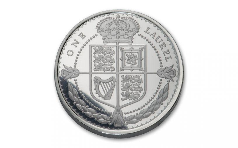 2019 Tristan da Cunha One Laurel 1-oz Silver Proof