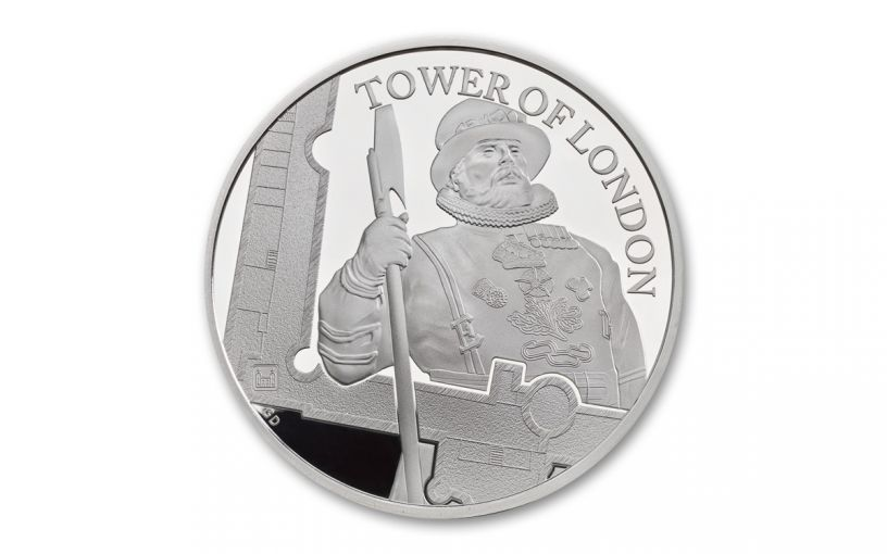 2019 Great Britain £5 Silver Tower of London Yeoman Warders Proof
