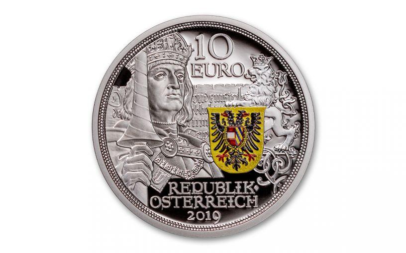 2019 Austria 1/2-oz Silver Knight's Tales – Chivalry Proof