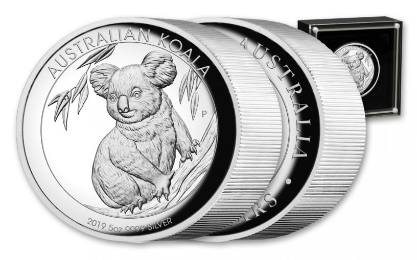 2019 Australia $8 5-oz Silver Koala High Relief Proof