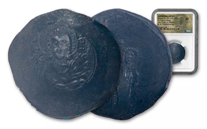 1195–1203 Byzantine Aspron Trachy NGC XF