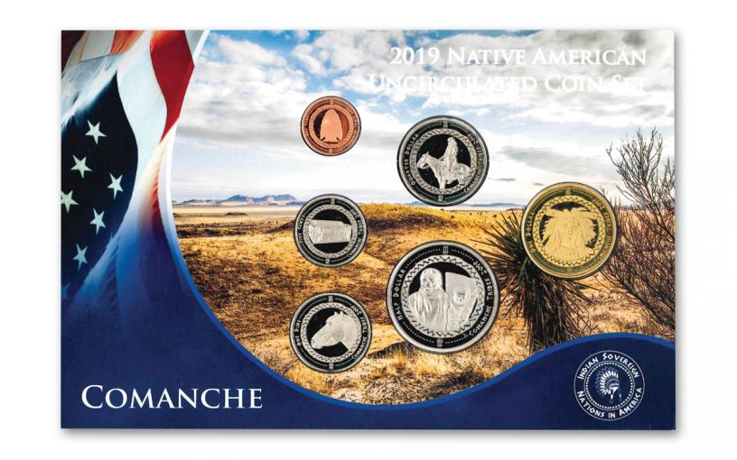 6PC 2019 NATIVE AMERICAN COMANCHE TRIBE BU SET