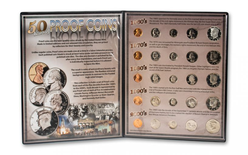 50 Years of Proof Coins 20-pc Collection
