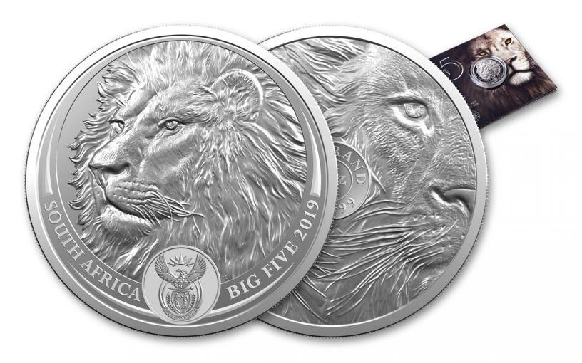 SA 2019 1OZ SILVER BIG 5 LION UNC/BLISTER PACK