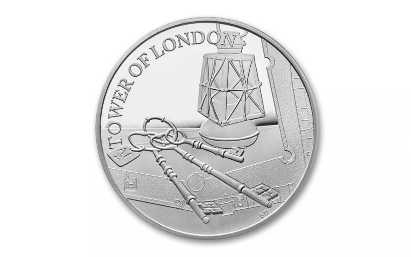 2019 Great Britain £5 Silver Tower of London Ceremony of the Keys Proof