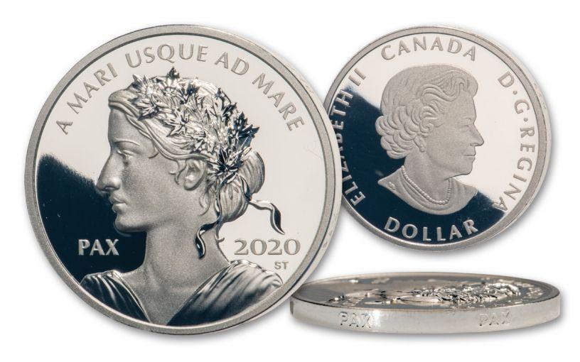 2020 Canada $1 1-oz Silver Peace Dollar Gem Proof