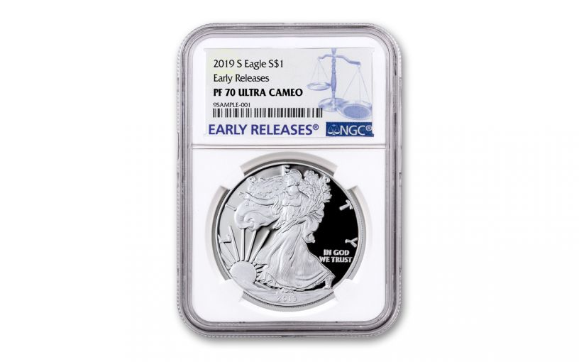 2019-S $1 Silver Eagle NGC PF70UC Early Releases