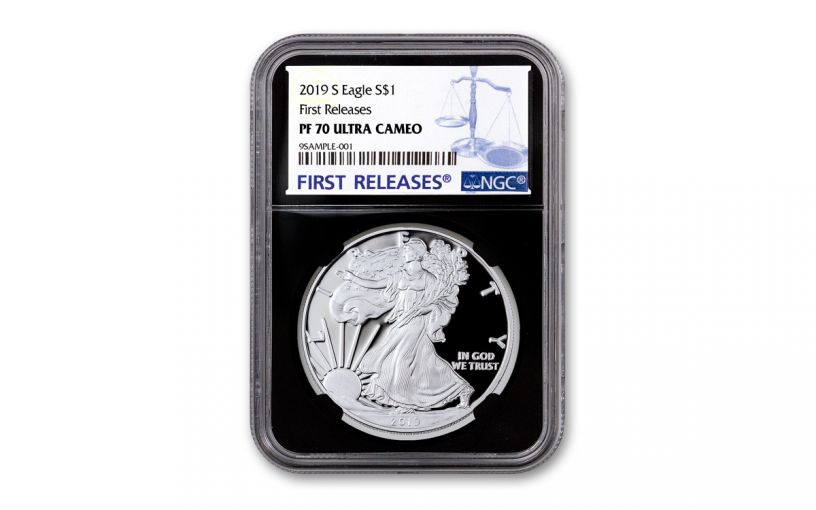 2019-S $1 Silver Eagle NGC PF70UC First Releases w/Black Core