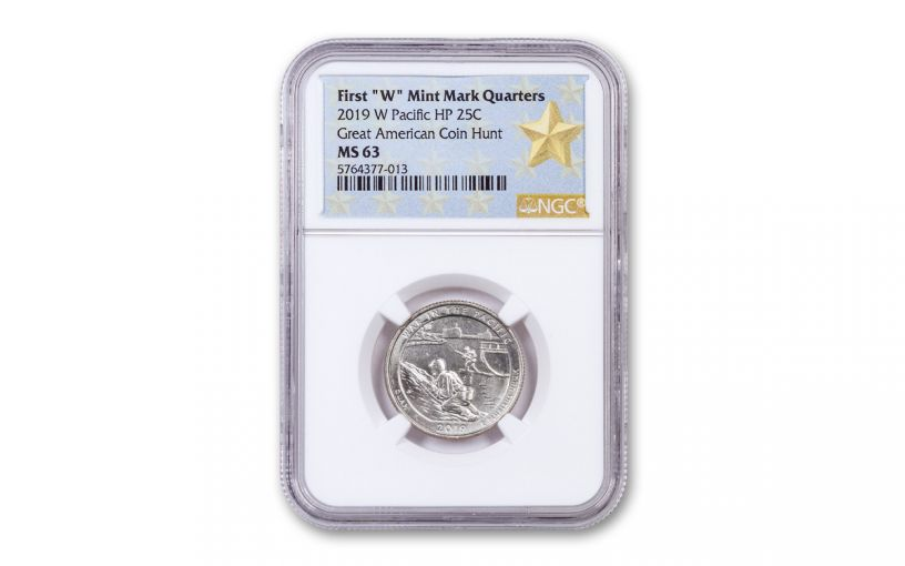 2019-W 25¢ America the Beautiful War in the Pacific National Historical Park Quarter NGC MS63 w/Gold Star Label