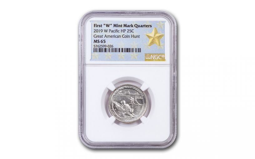 2019-W 25¢ America the Beautiful War in the Pacific National Historical Park Quarter NGC MS65 w/Gold Star Label