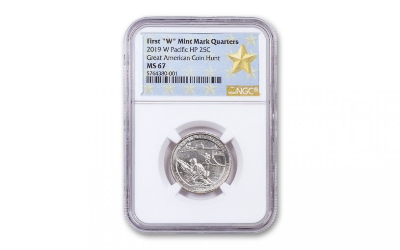2019-W 25¢ America the Beautiful War in the Pacific National Historical Park Quarter NGC MS67 w/Gold Star Label