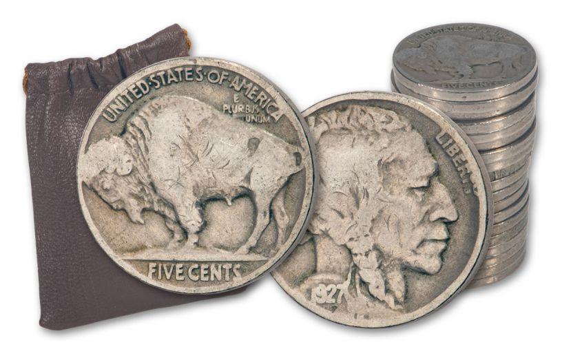 1920-1929 Quarter-Pound Bag of Buffalo Nickels