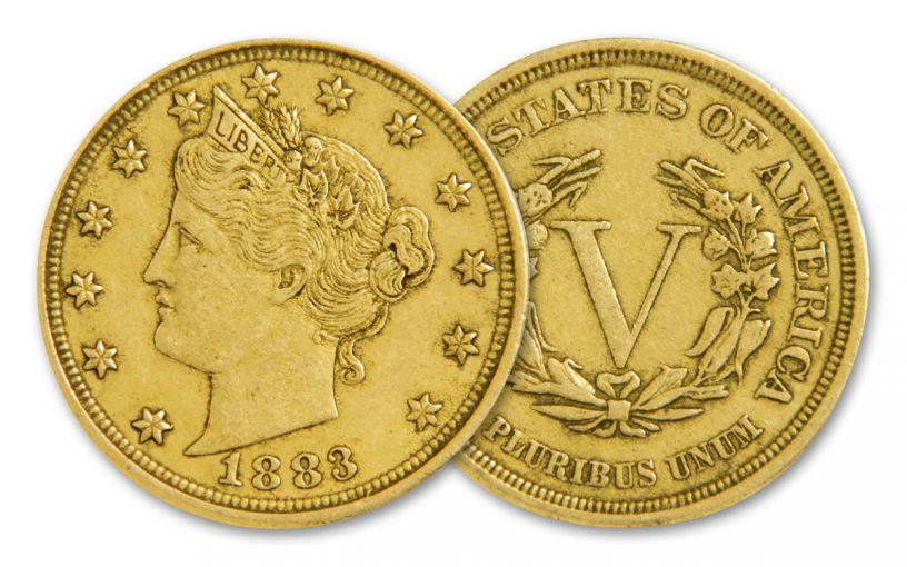 1883 Racketeer Nickel w/Gold Plating
