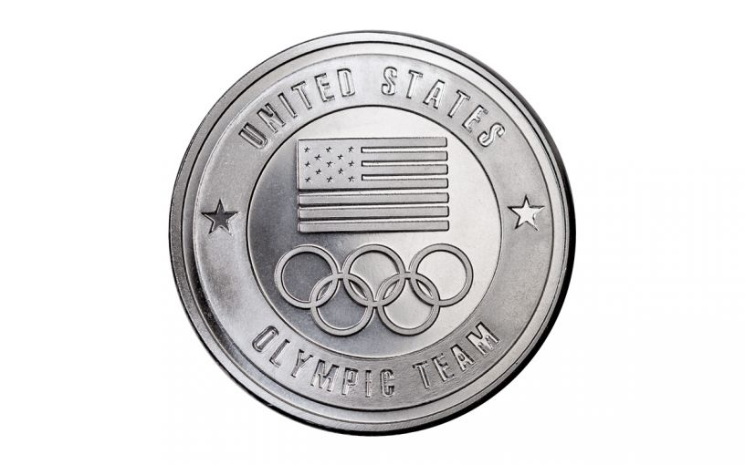 1-oz Silver United States Olympic Team Round
