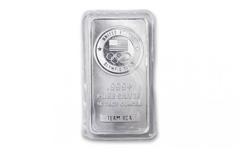 10-oz Silver United States Olympic Team Bar