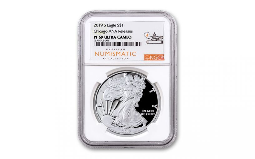 2019-S $1 Silver Eagle NGC PF69UC ANA Show Release