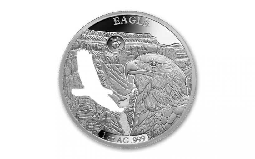 2020 Barbados $5 1-oz Silver Shapes of America Eagle High Relief Proof-Like