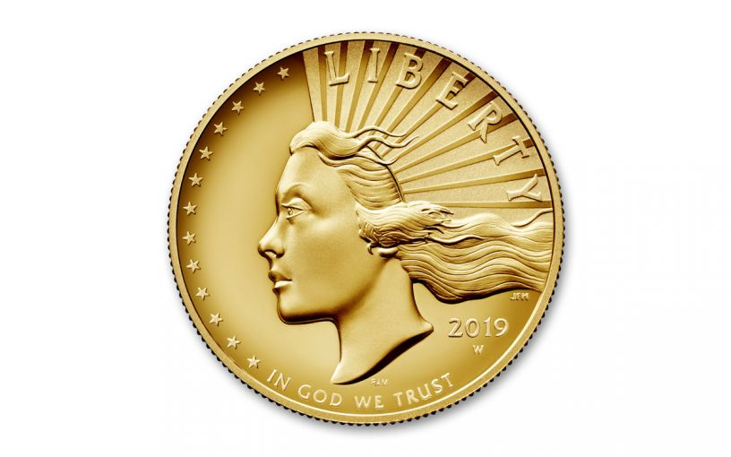 2019-W $100 1-oz Gold American Liberty High Relief Enhanced Uncirculated Finish