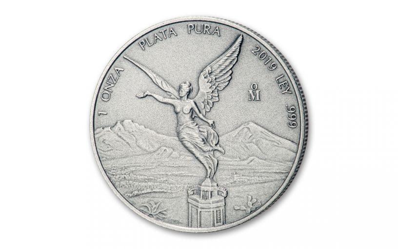 2019-MO Mexico 1-oz Silver Libertad Antiqued BU