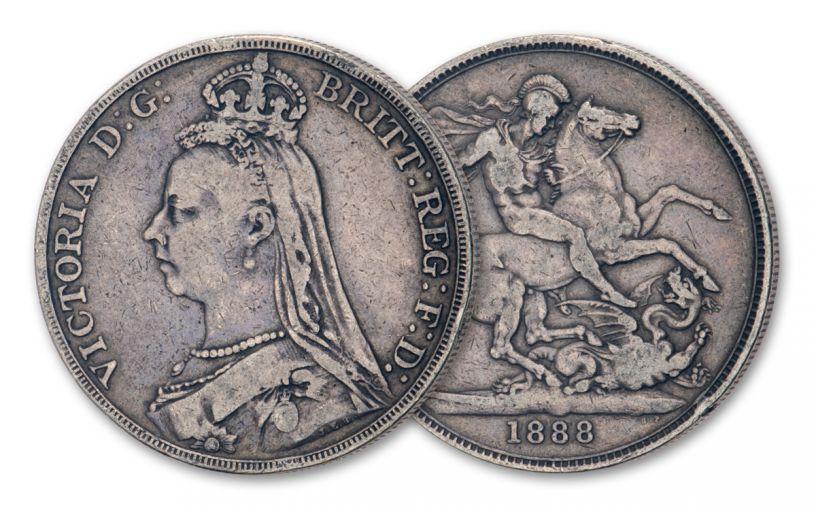 1887–1892 Great Britain Silver Crown Queen Victoria Jubilee VF