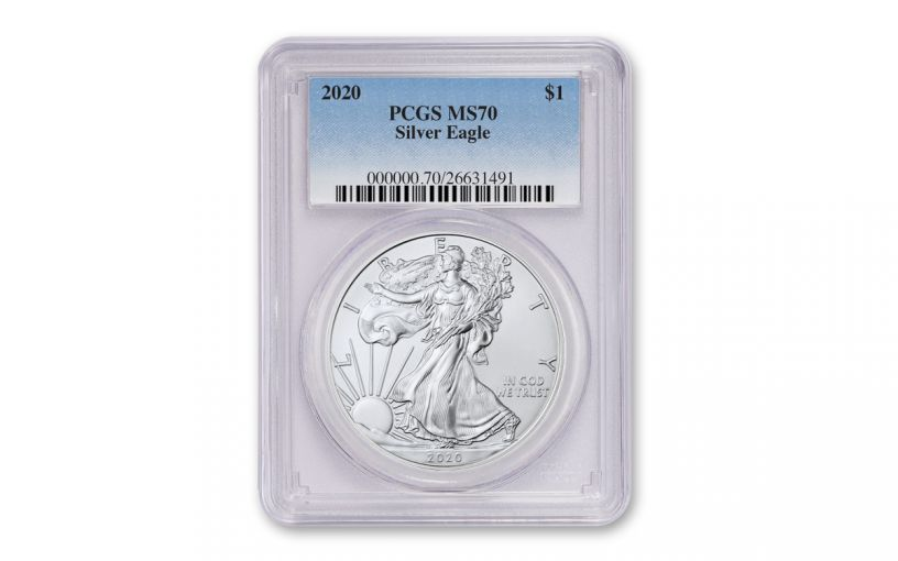2020 $1 1-oz Silver Eagle PCGS MS70