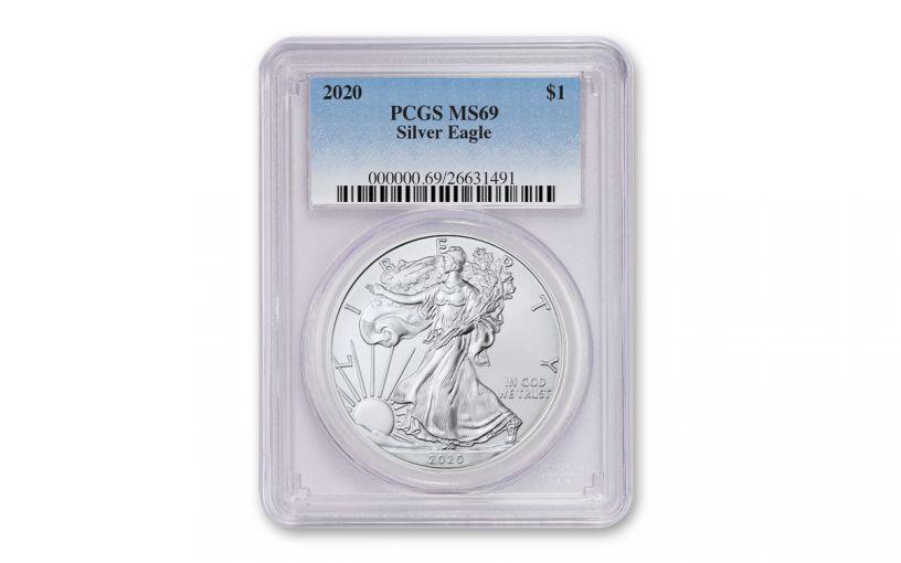 2020 $1 1-oz Silver Eagle PCGS MS69