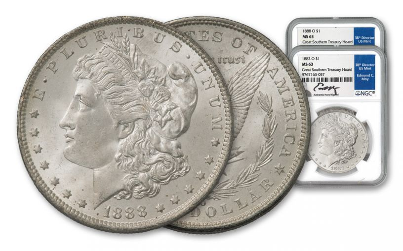 2PC 1882-1888-O $1 MORGAN NGC MS63 GRSOUTHERN MOY