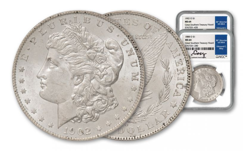 2PC 1888-1902-O $1 MORGAN NGC MS64 GRSOUTHERN MOY