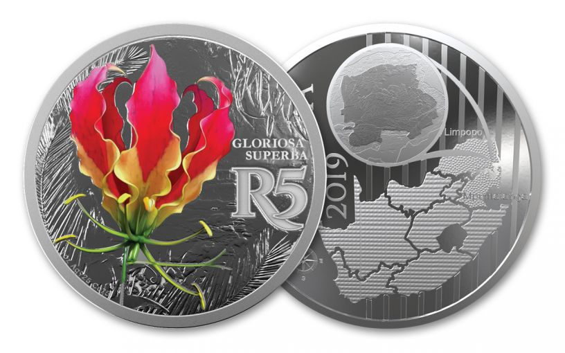 SA 2019 1OZ SILVER AFRICAN FLAME LILY PROOF