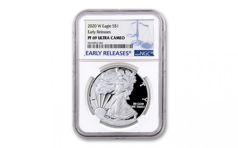 2020-W $1 1-oz American Silver Eagle NGC PF69UC Early Releases