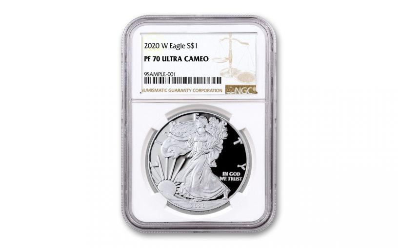 2020-W $1 1-oz American Silver Eagle NGC PF70UC