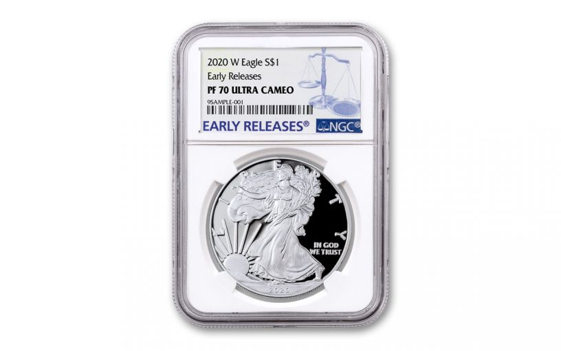 2020-W $1 1-oz American Silver Eagle NGC PF70UC Early Releases