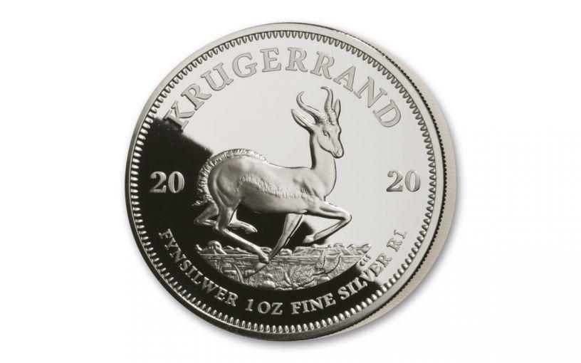 2020 South Africa 1-oz Silver Krugerrand Proof