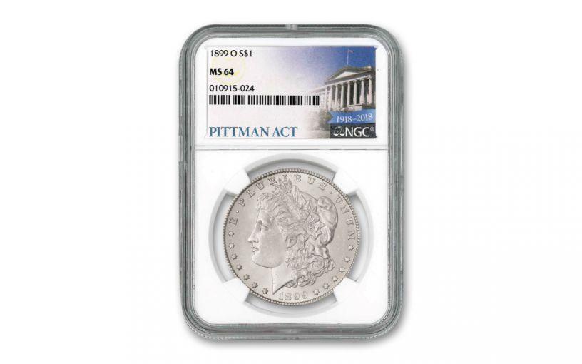 1899-O $1 Morgan Silver Dollar NGC MS64 Pittman Act