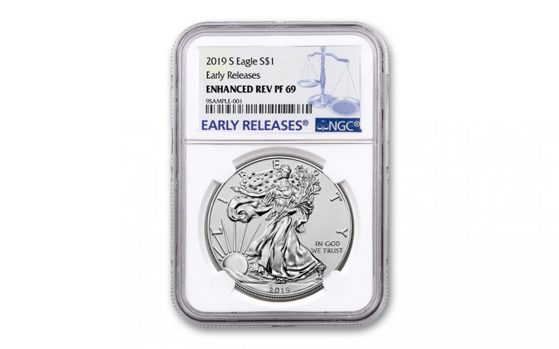 2019-S $1 1-oz Silver Eagle Enhanced Reverse Proof NGC PF69 Early Releases