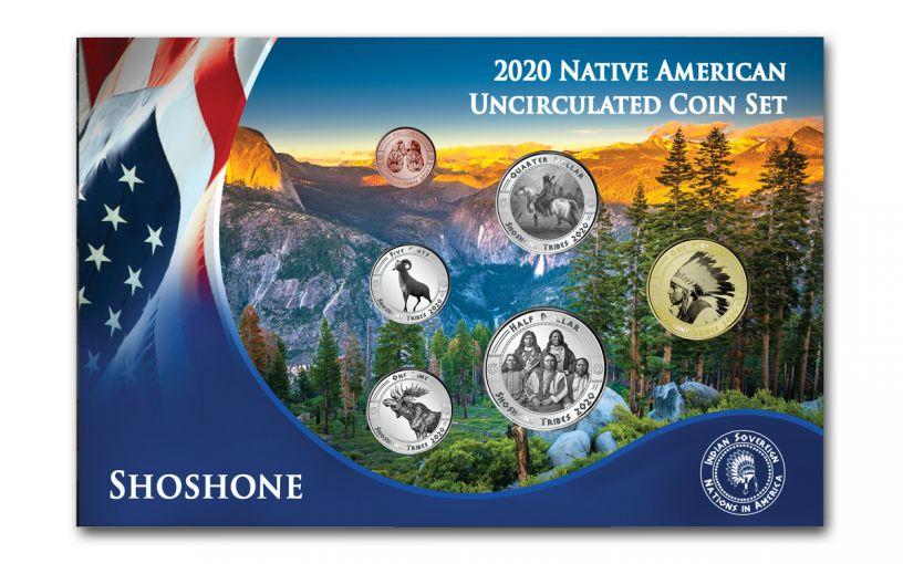 2020 Native American Shoshone Tribe 6-pc BU Set