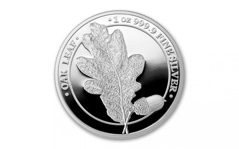 2019 Germania Mint 1-oz Silver Oak Leaf Proof