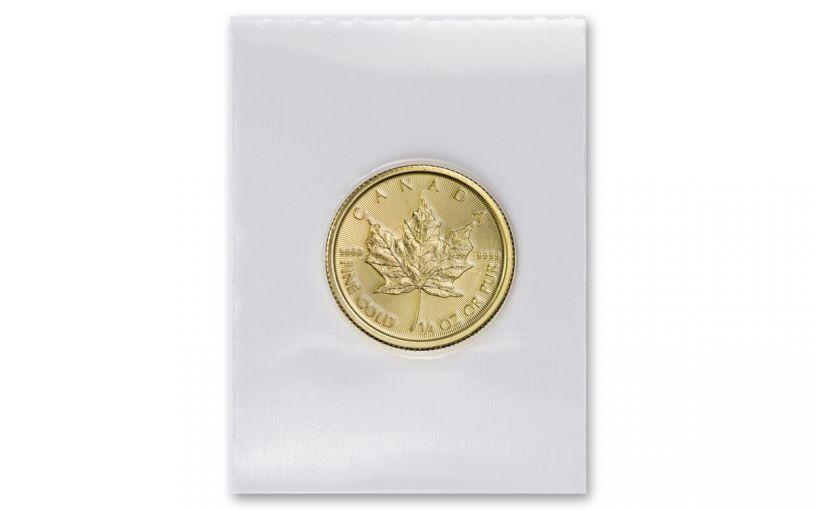 2020 Canada $10 1/4-oz Gold Maple Leaf BU Mint Sealed
