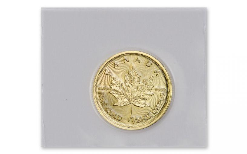 2020 Canada $1 1/20-oz Gold Maple Leaf BU Mint Sealed