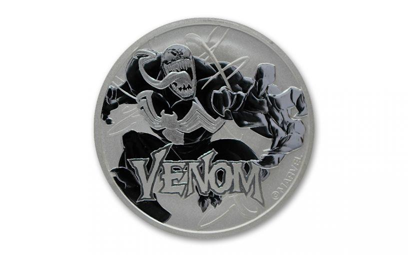 2020 Tuvalu $1 1-oz Silver Venom BU