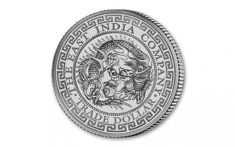 2020 Saint Helena £1 1-oz Silver Japanese Trade Dollar BU