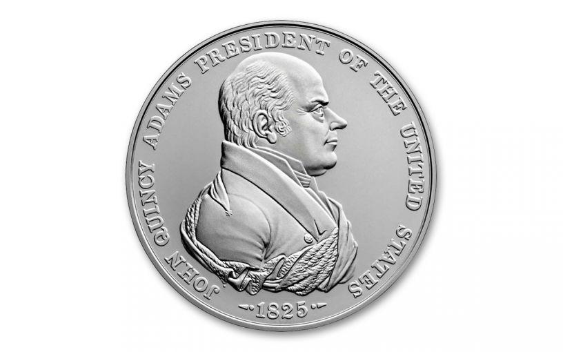 2019 1-oz Silver John Quincy Adams Presidential Medal BU