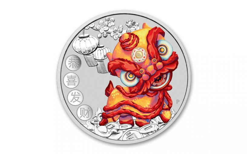 2020 Tuvalu $1 1-oz Silver Chinese New Year Proof