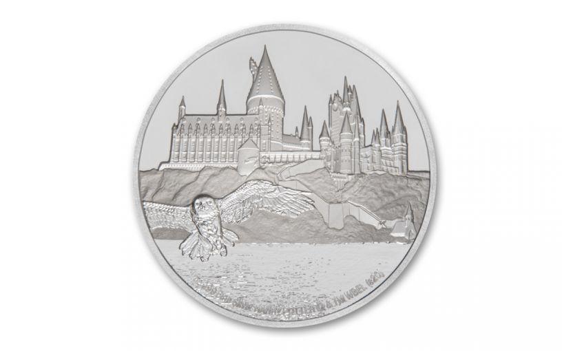 2020 Niue $2 1-oz Silver Harry Potter Hogwarts Proof