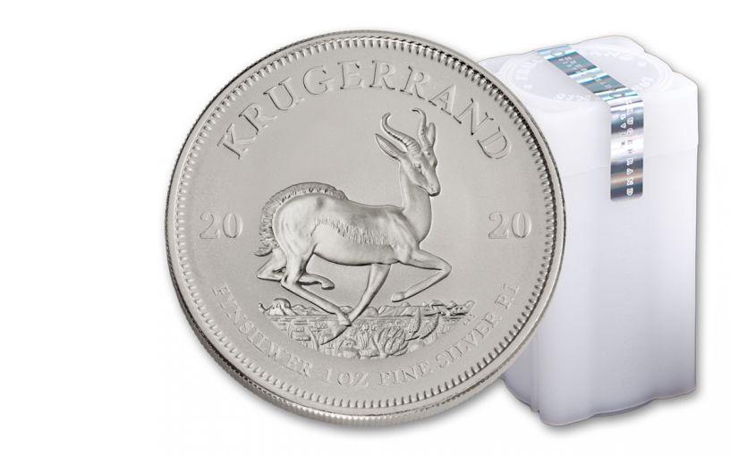 2020 South Africa 1-oz Silver Krugerrand BU – Roll of 25