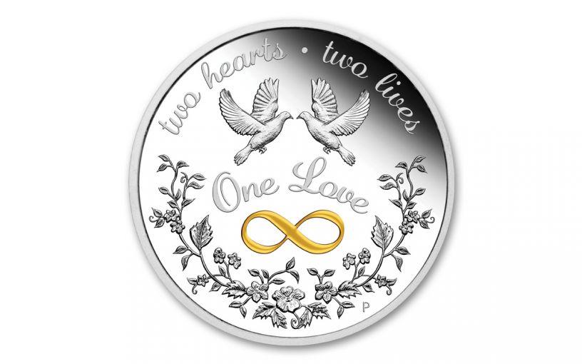 2020 Australia $1 1-oz Silver One Love Proof