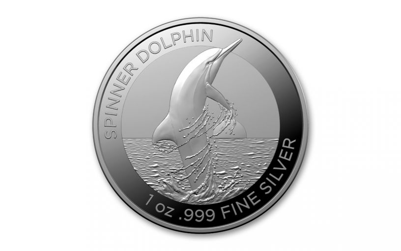 2020 Australia $1 1-oz Silver Spinner Dolphin BU