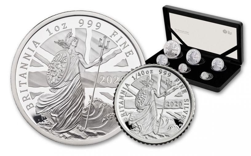 2020 Great Britain Silver Britannia 6-pc Proof Set