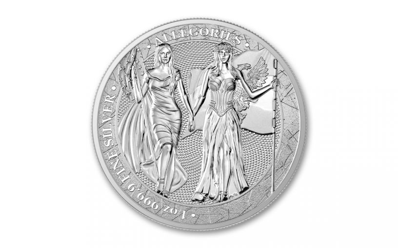 2020 1-oz Silver Allegories — Columbia & Germania Gem BU