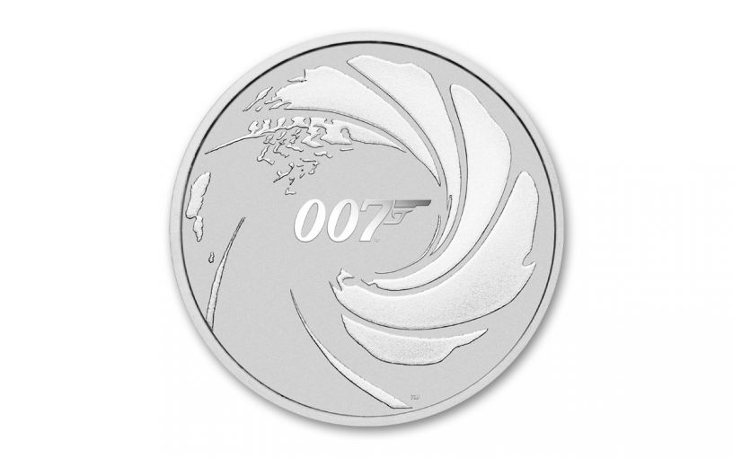 2020 Tuvalu $1 1-oz Silver James Bond BU